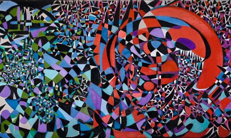 Fahrelnissa Zeid, Break of the Atom and Vegetal Life, 1962, Öl auf Leinwand, 210 x 540 cm, Z. Yildirim Family Collection, © Raad Zeid Al-Hussein