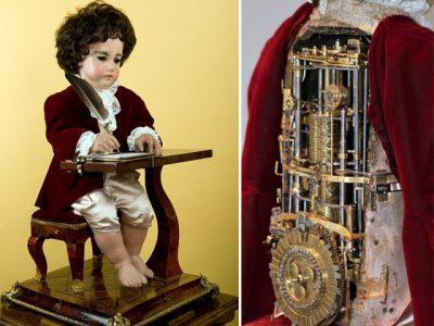 Der Schreiber - von Pierre Jaquet Droz - ausgestellt im  NEUCHÂTEL, Musée d'art et d'histoire