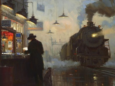 The Night Train - Lionel Walden (American, 1861-1933)