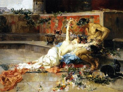 Joaquín Sorolla: Messalina in the Arms of the Gladiator