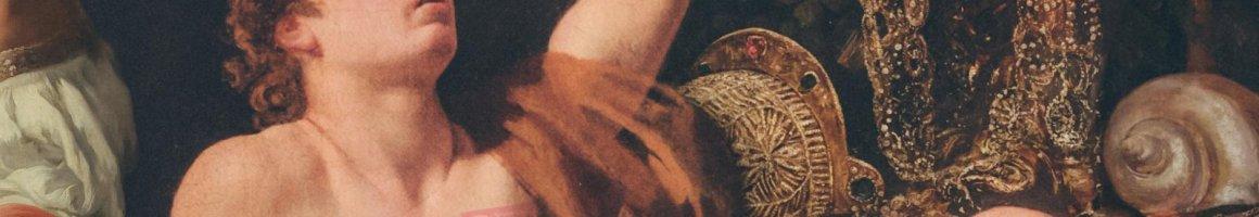 Header Collage erstellt von Frank Schröder, zusammengestellt aus Fotos von Cristoffer Wilhelm Eckersberg, August Pollak, Jean-Léon Gérôme, Frida Kahlo, Henri Rousseau, Wilhelm Otto Peters, Paolo Veronese, Auguste Toulmouche, Arnold Böcklin und Bernardo Strozzi.