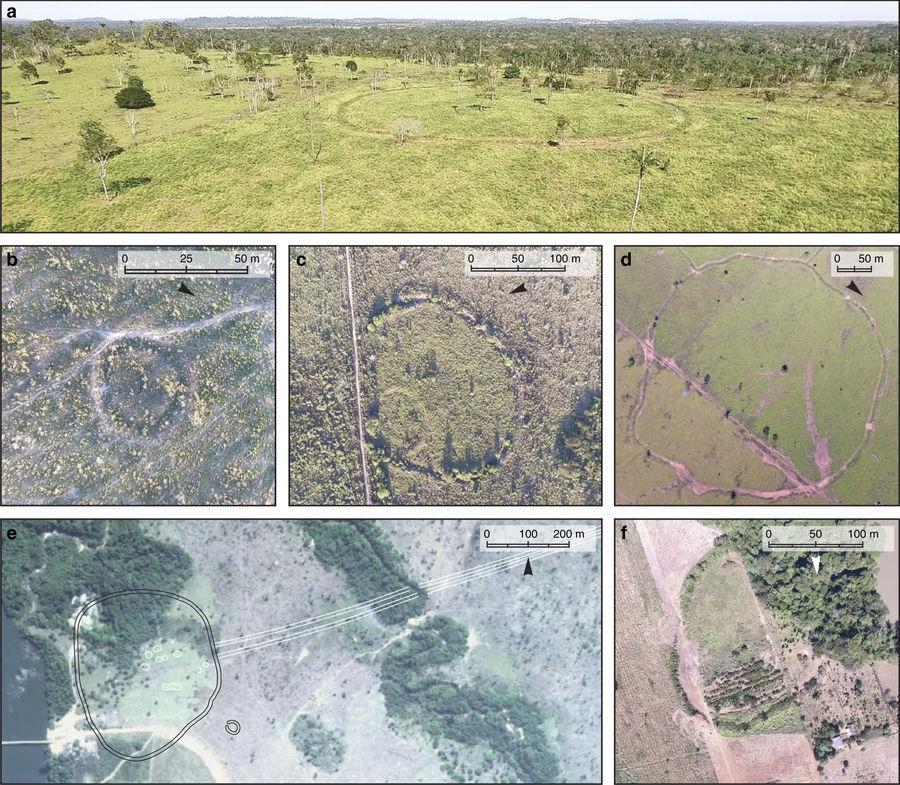 Gräben ehemaliger Anlagen des Oberen Tapajós-Beckens