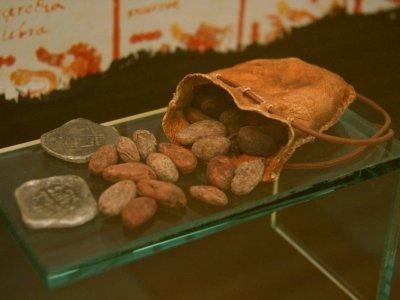 Die Vorformen des Papier- und Münzgeldes waren vielfältig. Hier zu sehen: Kakaobohnen als Zahlungsmittel.