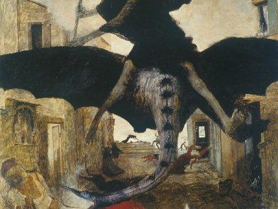 Der geflügelte Tod - Die Pest von Arnold Böcklin