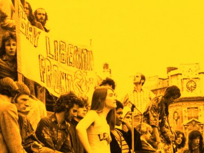 By LSE Library - Demonstration, with Gay Liberation Front Banner, c1972, No restrictions