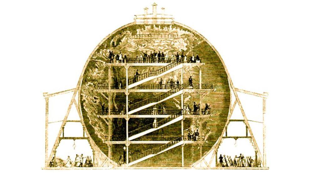 Ein Georama hat schon im 19. Jahrundert die Illusion einer anderen Realität geschaffen. Bild: The named newspaper qualified the picture