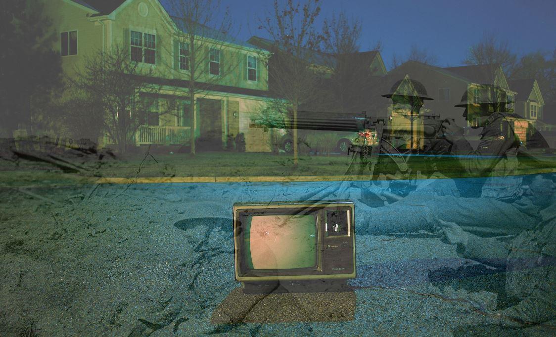 Mit der Entwicklung der Technik wird die Darstellung von Gewalt vielfältiger und damit auch häufiger. Foto-Collage: Frank Okay und Ernest Brooks