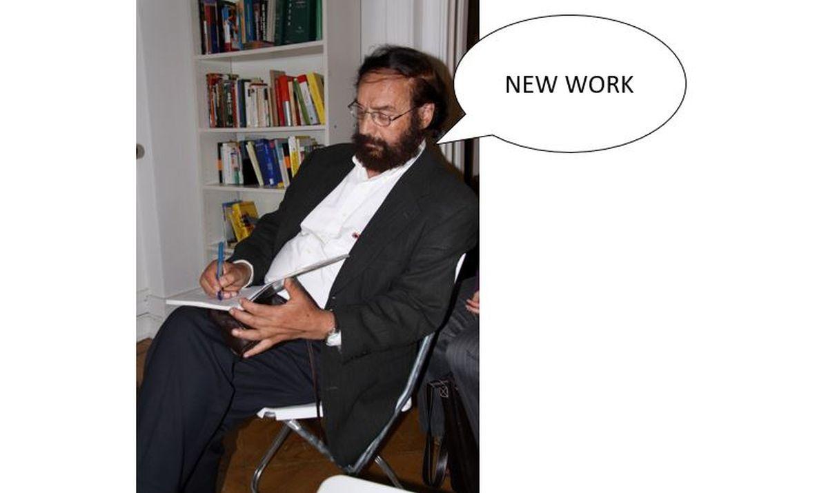 Frithjof Bergmann als Vordenker einer anderen, selbstbestimmten Arbeits- und damit auch Lebensweise. Foto:  Richard Hebstreit