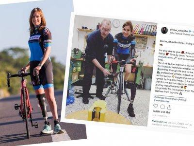 Collage mit Fotos von: Martin Hofmann und Denise Schindler auf Instagram