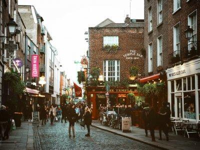 Der beliebte Stadtteil Tempelbar in Dublin. Foto: Diogo Palhais.