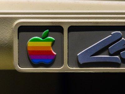 Das Apple-Logo aus den Anfangsjahren der Firma 1977. Foto: Jason Leung.