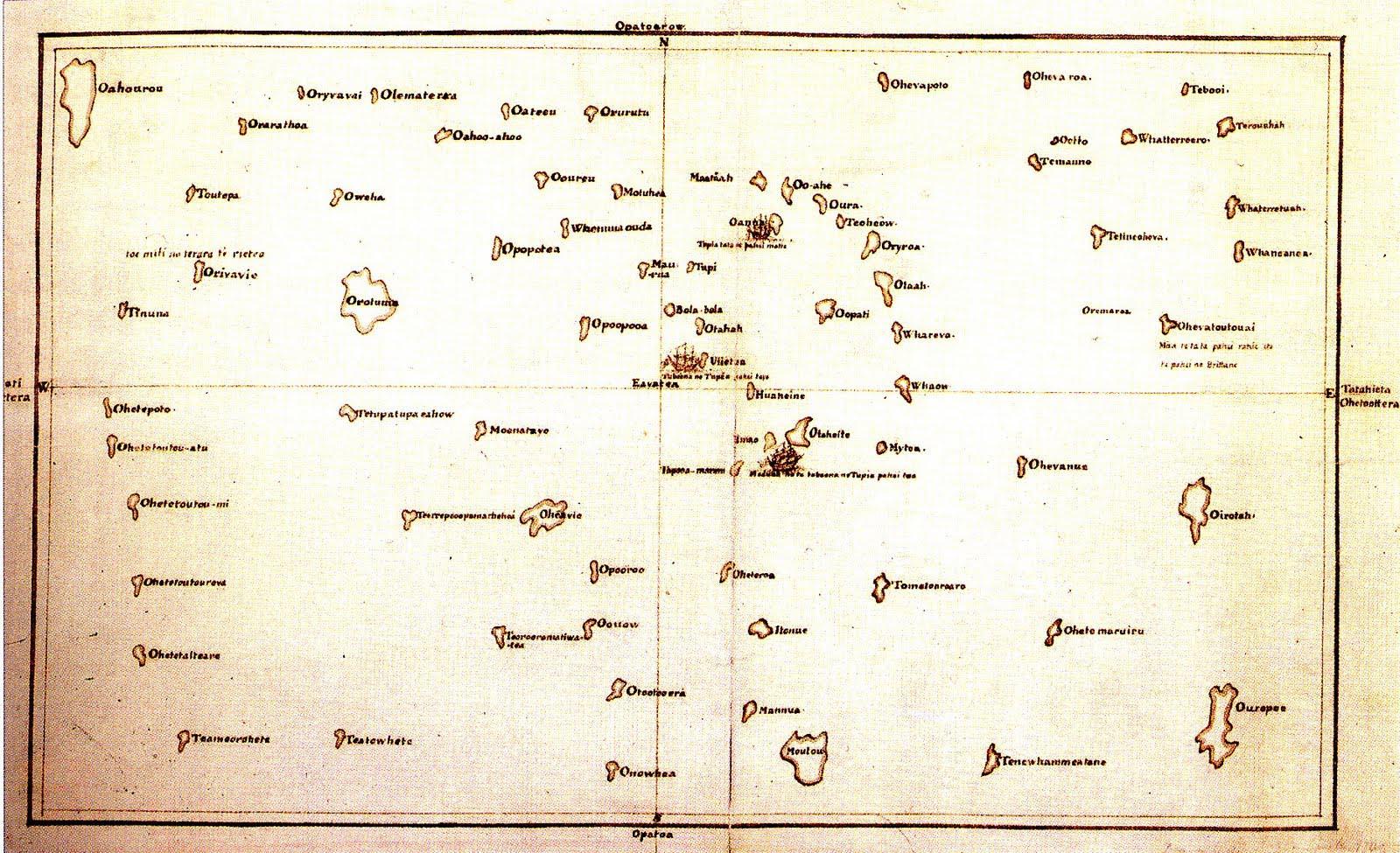 Tupaias Karte