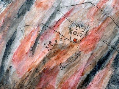 Help! - Drawing by Chisako Sasaki