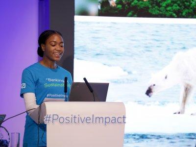 Wie kann man das  Verhalten seiner Mitmenschen nachhaltiger gestalten? Das war die zentrale Frage, auf der die Gewinneridee  des diesjährigen Hackathons der Deutschen Bank basierte. Foto via Deutsche Bank.