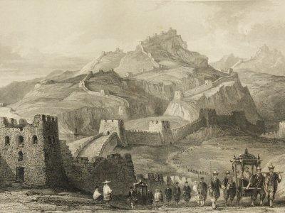 War die Chinesische Mauer eine Abgrenzung auch gegen äußere kulturelle Einflüsse? Bild:  Thomas Allom(1845)