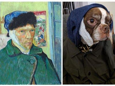 Der Twitter-User @oaklandian hat für die Getty Museum-Challenge kurzerhand den ohrlosen Künstler Vincent van Gogh.