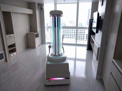 Die dänische Firma UVD Robots setzt auf UV-C Lichtstrahlen zu Bekämpfung von Keimen. Foto: UVD Robots.